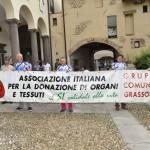 2015.06.14 Grassobbio - 40° Aido Grassobbio    - a Palazzo Belli sede Aido -  attesa corteo