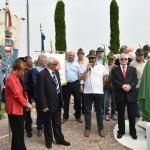 2015.06.14 - 40° Aido Grassobbio - Via Papa Giovanni XXIII  -  al monumento degli Alpini - intervento rappresentante Alpini di zona