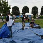2015.06.14 - 40° Aido Grassobbio - Via Papa Giovanni XXIII  -  Paracadutisti  Val Cavallina - recupero paracadute