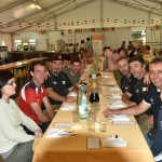 2015.06.14 - 40° Aido Grassobbio - Via Papa Giovanni XXIII  -  tensostruttura al pranzo Aido - Gruppo Paracadutisti