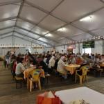 2015.06.14 - 40° Aido Grassobbio - Via Papa Giovanni XXIII  -  tensostruttura al pranzo Aido - Buon appetito ai 149 commensali