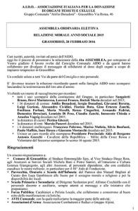 20160228 M.AidoAssemblea-Relazione Morale AIDO 2015
