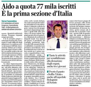 AIDO Bergamo a quota 77mila iscritti